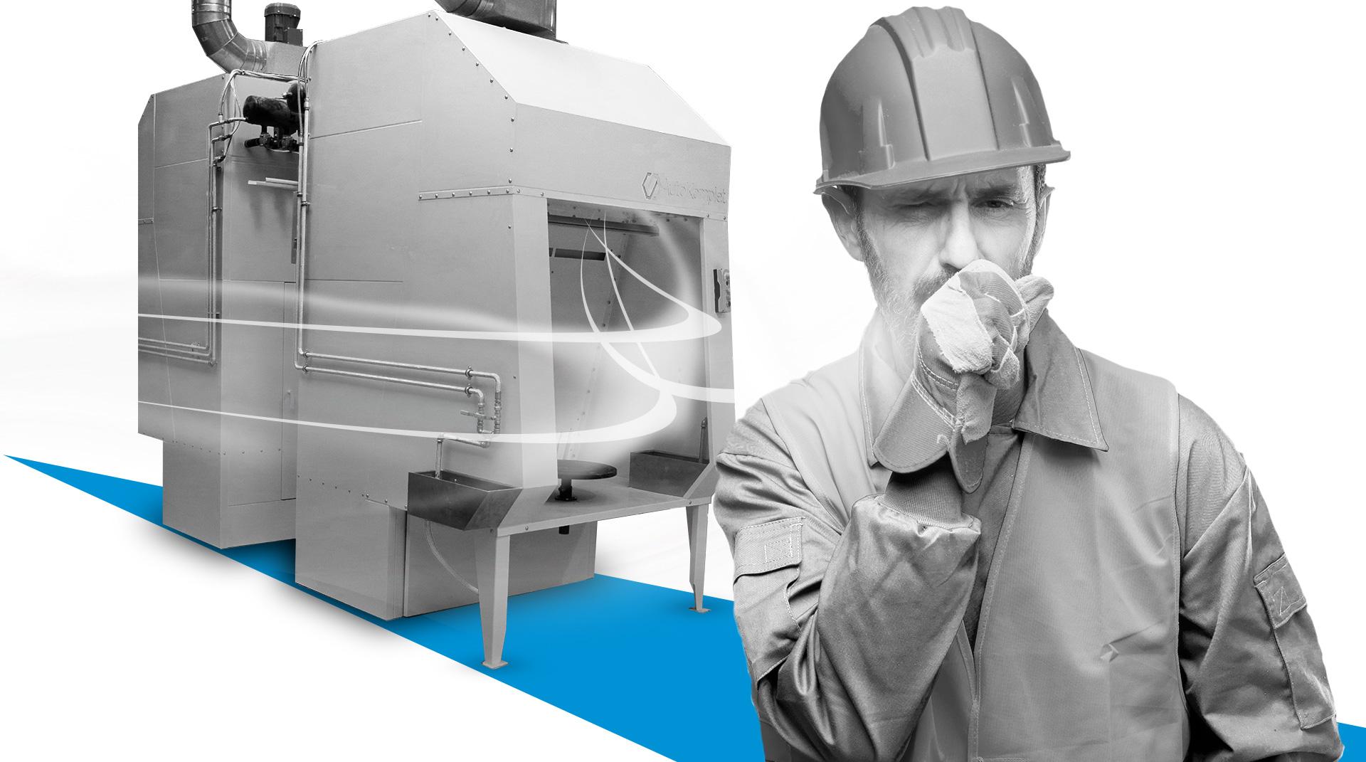 kaszlacy czlowiek system filtrowania