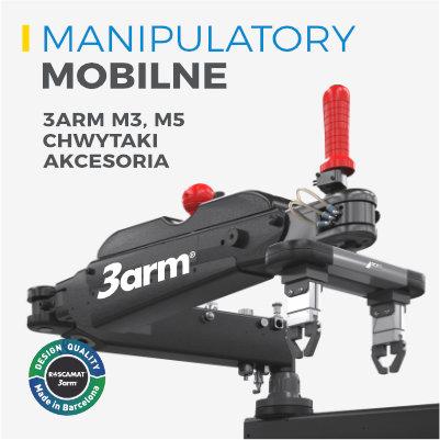 manipulatory mobilne 3arm m3 m5 chwytaki akcesoria