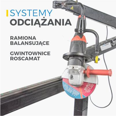 systemy odciazania ramiona balansujace gwintownice roscamat